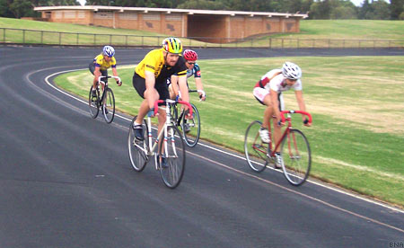 D grade races around the outdoor asphalt track at Lidcombe Oval