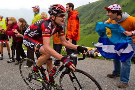 TDF Cadel Evans keeps pace during stage 12