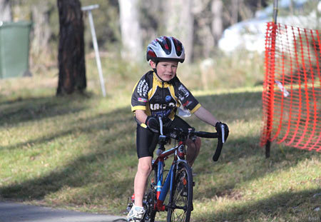 Competitive boys cycling australia
