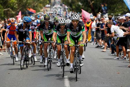 Australian Road Championships - Matt Wilson leads up tht climb.