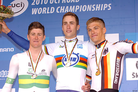 UCI Worlds U23 Time Trial Taylor Phinney, Luke Durbridge, Marcel Kittel