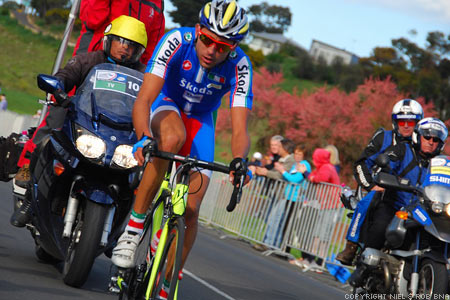 2010 UCI World Championships Melbourne: Moreno Moser almost with the chase group