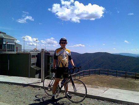 The Climbing Cyclist - Matt de Neef Mt Buller