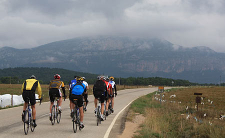 Trans-Pyrenees Riding in Formation