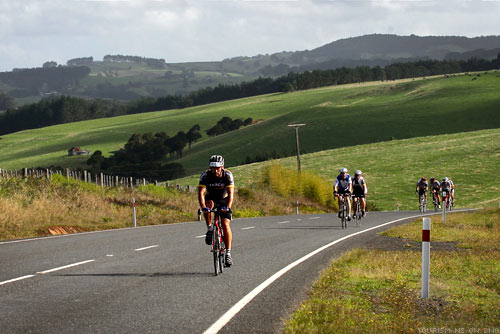 Riding in the Tour of New Zealand