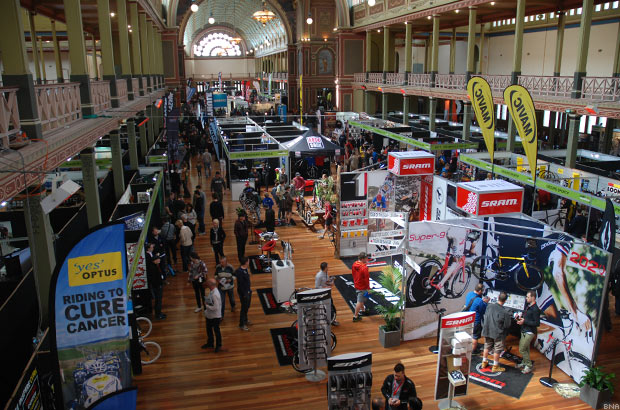 View of the Exhibition Halls at Ausbike