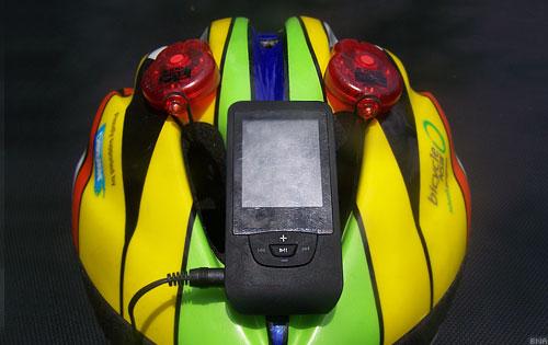 O-tus Helmet Mounted Mp3 Player